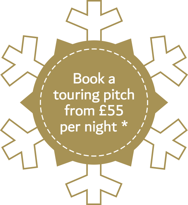 Book a touring pitch from £55 per night*